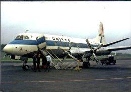 Aerei Vickers Viscount 745D Air United Ailines Airlines Aereo VK 745 Aircraft Aviation VK 745 - 1946-....: Era Moderna