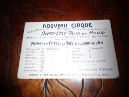 Paris Nouveau Cirque Train De Plaisir 251 Rue St Honoré  D - France