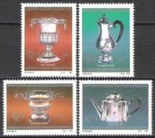 Südafrika South Africa RSA 1985 Kunsthandwerk Geschirr Kapsilber Silber Schalen Kannen Becher Kaffee, Mi. 678-1 ** - Südafrika (1961-...)