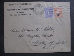 Se L 28-TB Enveloppe Affranchie Avec N° 200 Et 227 ( Couleur Passée?);  De Paris Pour Les USA ( 05/ 04 / 1933 ). - Marcofilia (sobres)