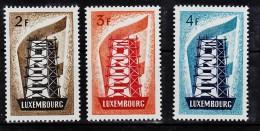 Luxembourg 514 516 Europa 1956 Neuf ** TB MNH Sin Charnela Cote 550 - 1956