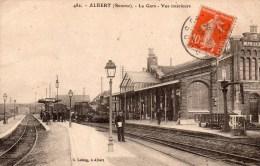 482.Albert (somme)-la Gare-vue Intérieure. - Francia