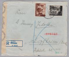 Kroatien 1942-09-12 BELISCE Zensur R-Brief Nach Schopfheim D - Croatie