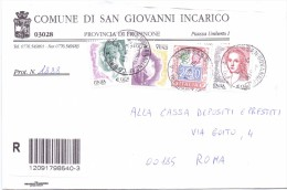 SAN GIOVANNI INCARICO - 03028 - PROV. FROSINONE - R - 2004 - FTO 12X17 - TEMATICA TOPIC STORIA COMUNI D´ITALIA - Affrancature Meccaniche Rosse (EMA)