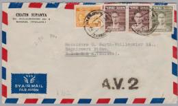 Thailand Siam 1951-09-12 Bangkok A.V.2 Flugpost Brief Nach Nidau BE - Thaïlande