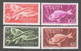 Spanish Sahara 1954 Spanisch-Sahara Mi 147-150 Fishes **/MNH - Fishes