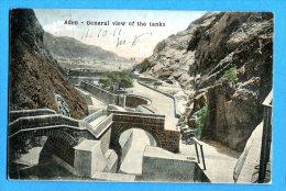 LIP303, Aden, General View Of The Tanks, Circulée 1911 Timbre Décollé - Yemen