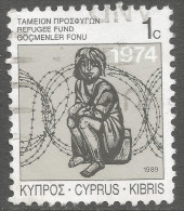 Cyprus. 1989 Obligatory Tax. Refugee Fund. 1c  Used - Cyprus (Republic)
