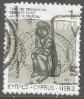 Cyprus. 1991 Obligatory Tax. Refugee Fund. 1c  Used - Cyprus (Republic)