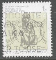 Cyprus. 2000 Obligatory Tax. Refugee Fund. 1c  Used - Cyprus (Republic)
