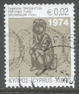 Cyprus. 2008 Obligatory Tax. Refugee Fund. 2c  Used - Cyprus (Republic)