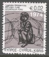 Cyprus. 2009 Obligatory Tax. Refugee Fund. 2c  Used - Cyprus (Republic)