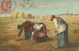 LES GLANEUSES J F MILLET Voyagée En 1904 Voir Le Scan - Peintures & Tableaux