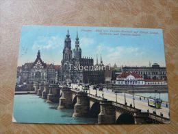 Dresden. Blick Von Dresden-Neustadt Auf Königl.Schloß, Hofkirche Und Gemalde-Galerie Germany - Dresden