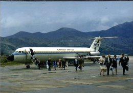 Bua BAC 111  British United Airlines Aereo Avion Aircraft Aviation Dubrovnik Airport - 1946-....: Era Moderna