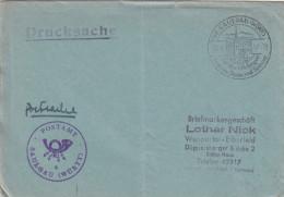 Brief - Hülle Drucksache Postsache Sonderstempel Saulgau - Wuppertal - BRD