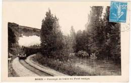 Boen - Passage De Train Au Pont Rompu - France