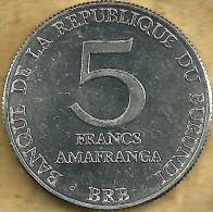 BURUNDI 5 FRANCS INSCRIPTIONS FRONT EMBLEM BACK 1980 AUNC KM? READ DESCRIPTION CAREFULLY !!! - Burundi