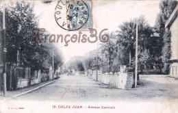 (06) Golfe Juan - Avenue Centrale - 2 SCANS - Autres Communes