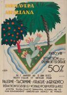 Postcard - Poster Reproduction - Primavera Siciliana Palermo-Taormina-Siracusa-Agrigento 1930 - Pubblicitari