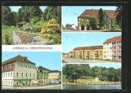 """AK Limbach-Oberfrohna, HOG """"Völkerfreundschaft"""" Mit Kreiskulturhaus, Rathaus, Stadtpark, Neubauten """"am Hohen Hain"""" - Limbach-Oberfrohna"""