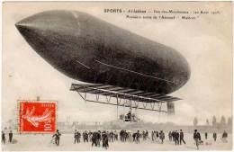 """Sports, Aviation, Issy Les Moulineaux - Première Sortie De L'aéronef """" Malécot """" - Eld - Airships"""