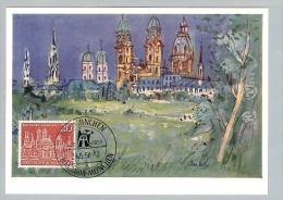 Motiv Maximumkarte 1958-05-29 BRD 800 Jahre München - Lettres & Documents