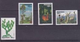9] Série Complete Set ** Rwanda Flore Flora Cactus 1997 - Végétaux