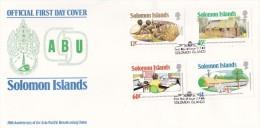 Solomon Islands 1984 200th Anniversary Of The Asia-Pacific Broadcasting Union FDC - Solomon Islands (1978-...)
