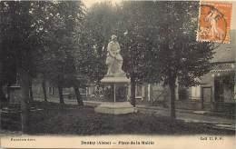 Aisne  -ref A111- Danizy -place De La Mairie -monument Aux Morts Guerre 1914-18  - Carte Bon Etat  - - France