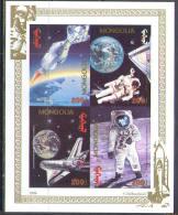 0121 Space Apollo 11 1971 Mongolia S/s MNH Imperf Imp ** RARE - Asia