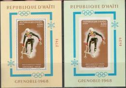 0145 Olympic Sport 1968 Haithi 2S/s MNH ** Imperf Imp 50ME - Winter 1968: Grenoble