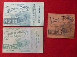 PLAZA DE TOROS MARSEILLE TICKETS Direction MICHEL LAURENT - Tickets - Vouchers