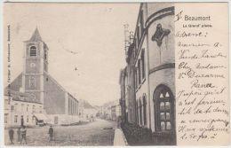 25255g  GRAND'PLACE - EGLISE - Beaumont - 1903 - Beaumont