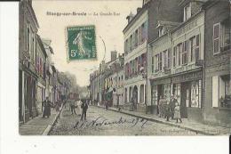 Blangy-sur-Bresle  76    La Grande-Rue Tres Tres Animée-Librairie-Papier-Peint-Epicerie Et Café - Blangy-sur-Bresle