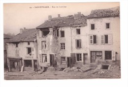 54 Badonviller Carte RARE Rue De Lorraine Coiffeur Boulangerie Ruines Guerre 1914 1918 - Francia
