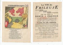 Publicité , LE VIN DE FRILEUSE , Imagerie L. Bellenand Et Fils , N° 3 , La Belette Entrée Dans Un Grenier , Fable - Publicités