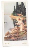 Enfant-Jésus Mène Les Agneaux à La Rivière. Signé Zandrino. - Andachtsbilder