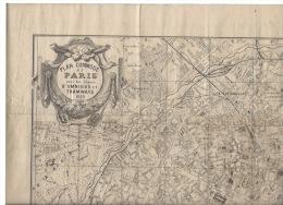 Plan Commode De Paris 1889 - Maps