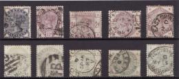 Grande Bretagne 1883-84 - N� 76 � 85 - Oblit�r�s - S�rie compl�te
