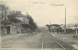 - Alpes De Haute Provence - Ref A22 - Saint Auban - La Gare - Theme Gares -  Ligne De Chemin De Fer - Carte Bon Etat- - Altri Comuni
