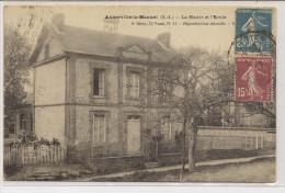 Auberville- La-Manuel  La Mairie Et L'Ecole - France