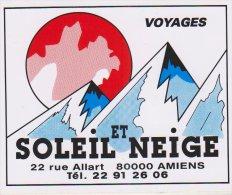 Autocollant Amiens Voyage Soleil Et Neige - Autocollants
