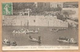 """SAINT JUST SUR LOIRE -- Les Joutes - Frachon Et Beauregard De La """"Vigie"""" Du Pertuiset - JOUTE - JOUTEUR - Jouteurs Nommé - Saint Just Saint Rambert"""
