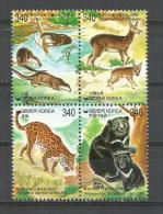 CORÉE DU SUD.Protection De La Faune (Panthère Orientale,Ours à Collier,Porte-musc De Sibérie,etc) 4 T-p Neufs ** - Bears