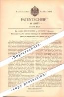 Original Patent - Dr. Alois Helfenstein In Overpelt , Belgien , 1900 , Schienen Für Elektrische Eisenbahn , Straßenbahn - Overpelt