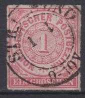 NDP Mi.-Nr.4 -schwarzer Rundkreisstempel STRALSUND Pommern, Feinst - Norddeutscher Postbezirk