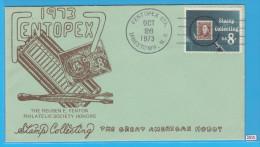 + FENTOPEX 1973, STAMP COLLECTING, RUBEN E. FENTON JAMESTOWN, NEW YORK, Mi: 1090 - Event Covers