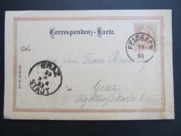 GANZSACHE FELDBACH - GRAZ 1898 Korrespondenzkarte  ///  D*16515 - 1850-1918 Imperium