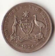 AUSTRALIE 1 FLORIN ARGENT 1924 - Monnaie Pré-décimale (1910-1965)